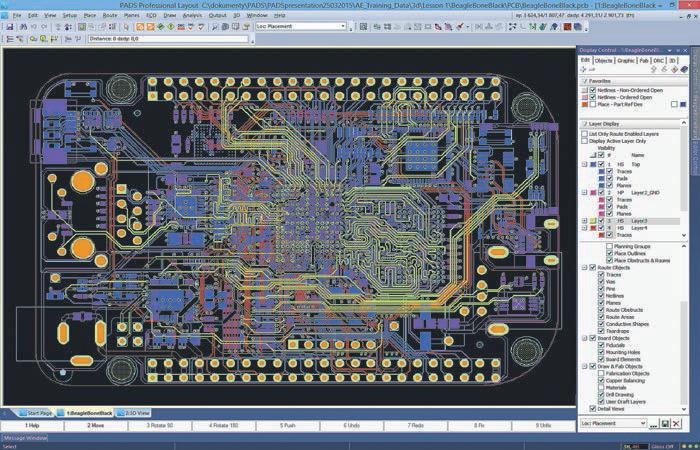 PADS Professional – nový systém pro návrh komplexních desek
